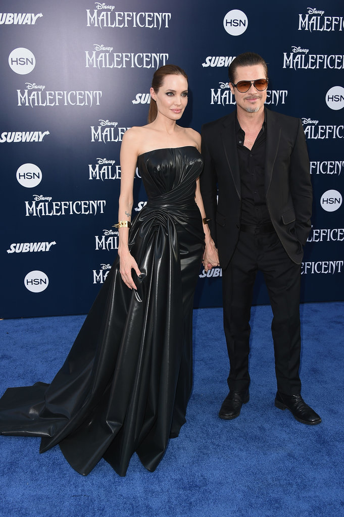 Brad and Angie walked the carpet together.