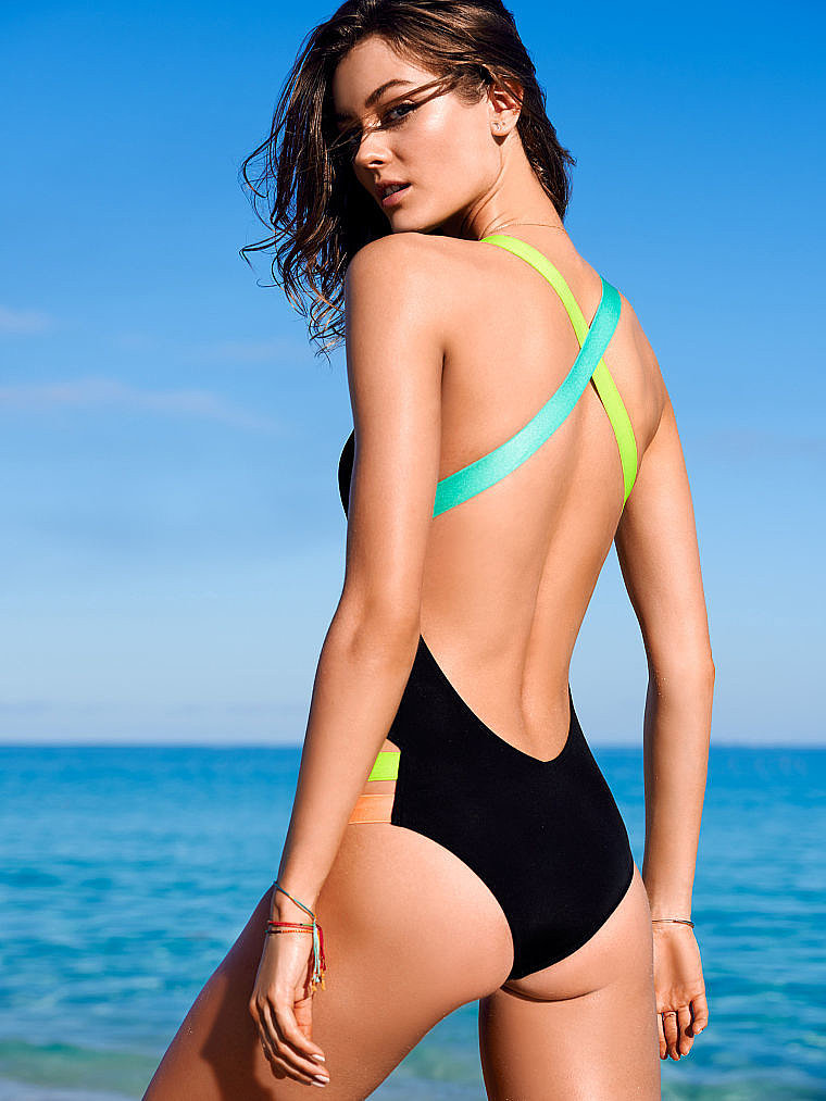 Victoria's Secret Neon-Strap One-Piece