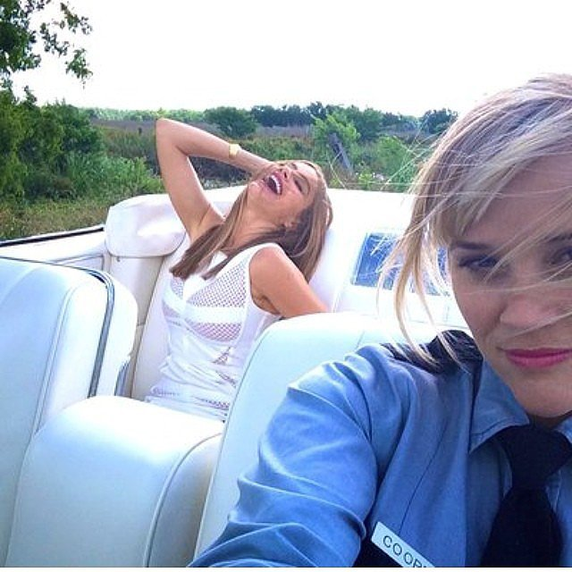 Reese Witherspoon and Sofia Vergara had a blast together on set. Source: Instagram user reesewitherspoon