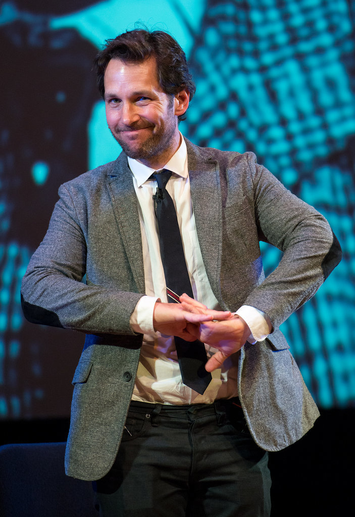 Paul Rudd struck a pose after a reading at the World Science Festival reception on Wednesday in NYC.