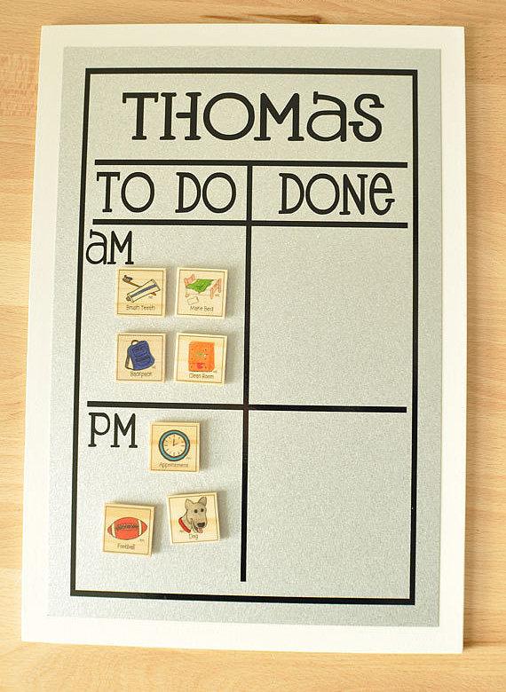 Morning and Night Chore Chart