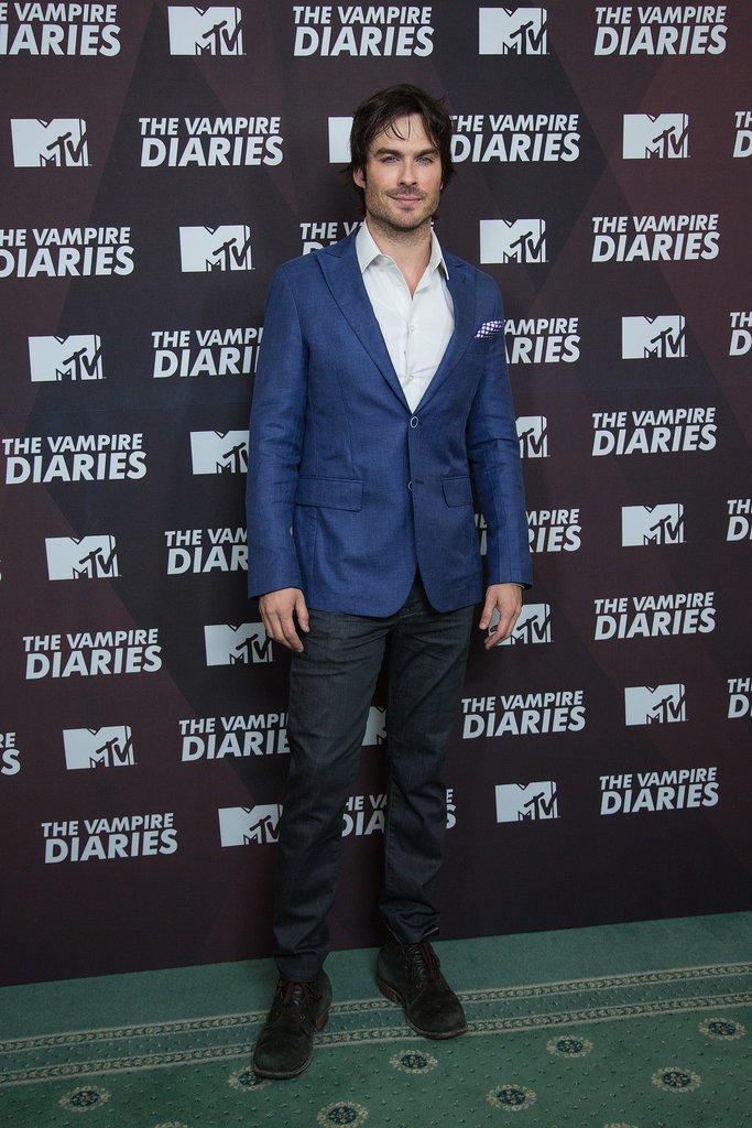 Ian Somerhalder showed off his charming smile on Thursday at a Vampire Diaries press conference in Mexico City.