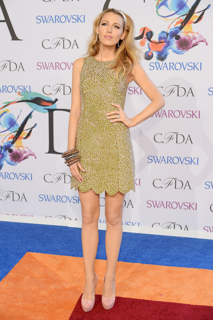 Blake Lively walked the red carpet in Michael Kors.