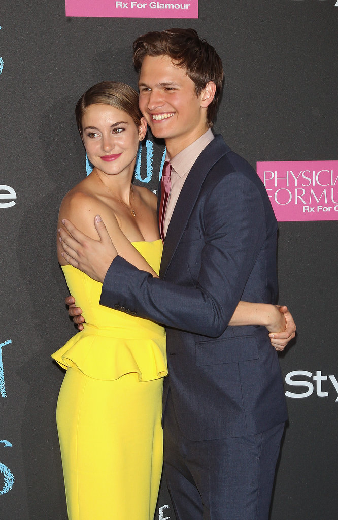 Shailene Woodley and Ansel Elgort also embraced.