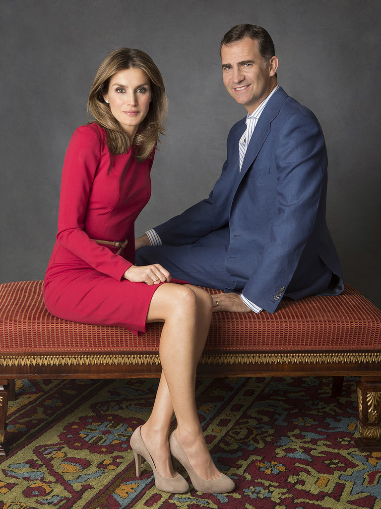 Letizia and Felipe looked very dapper in their official 2012 portrait.