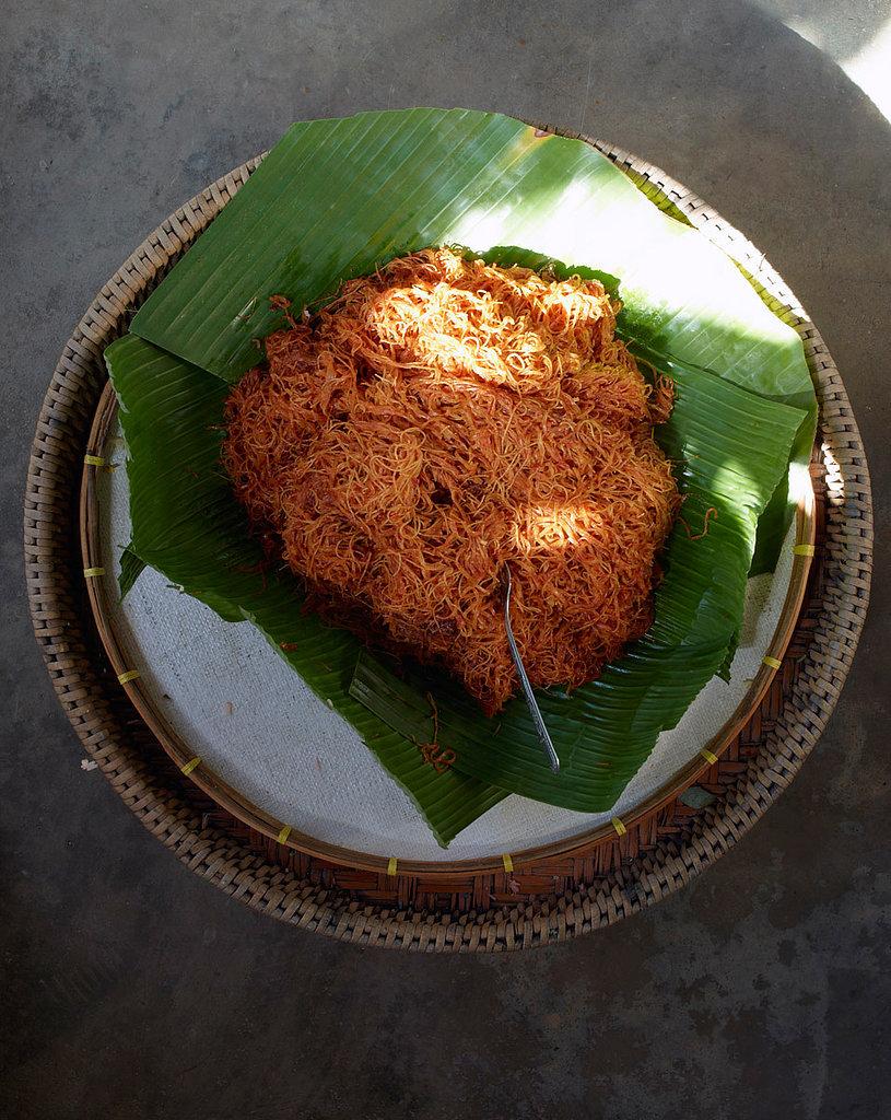 Fried Noodles in Coconut Milk with Shrimp