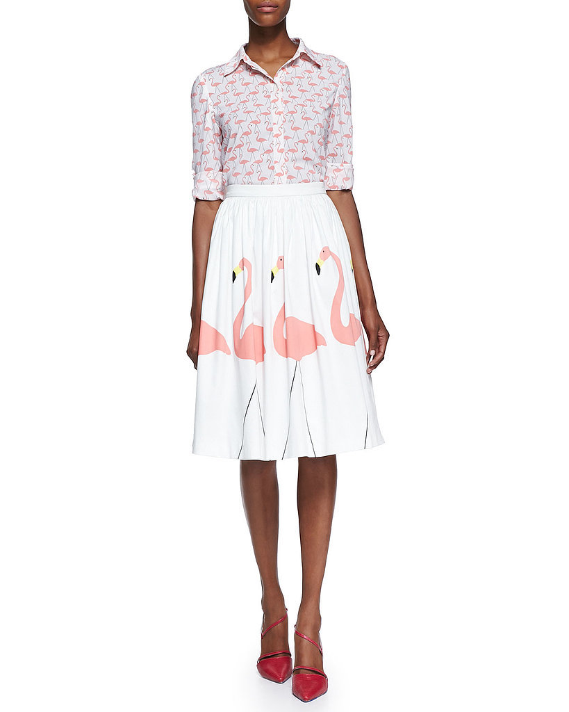 Alice + Olivia Flamingo Skirt