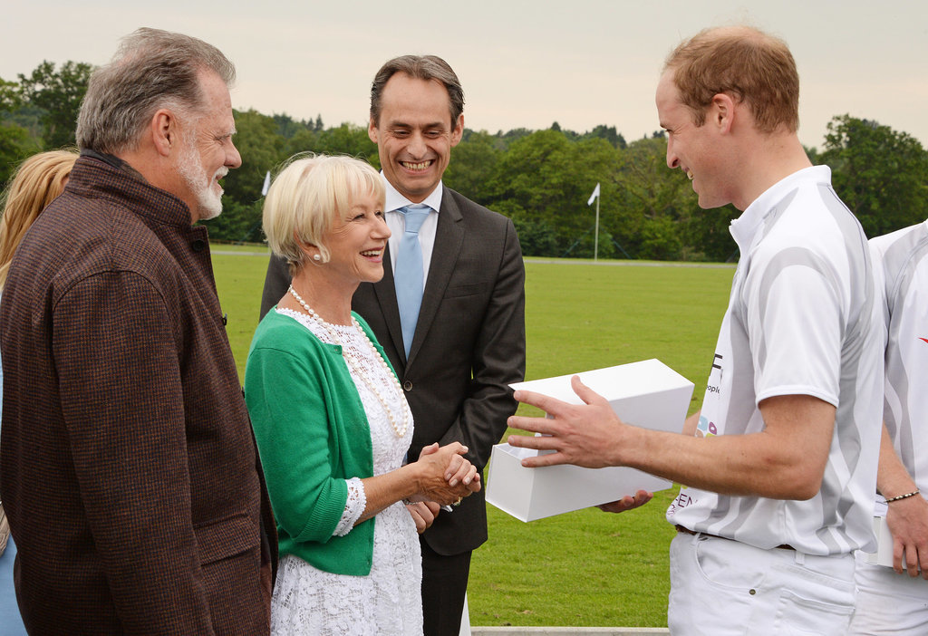 In June 2014, Helen Mirren attended the Audi Polo Challenge in Ascot, England, where she met Prince William.