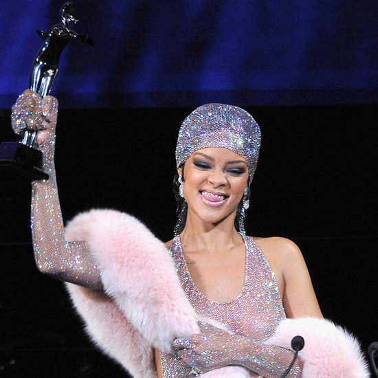 Rihanna in a Nude Dress at the CFDA Fashion Awards