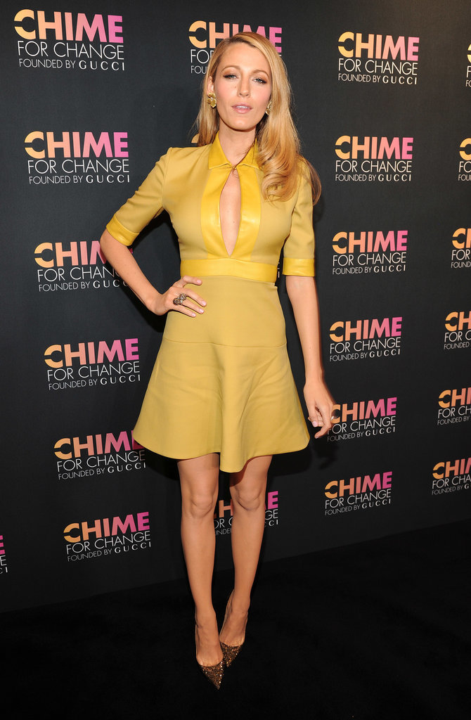Blake Lively looked lovely in yellow.