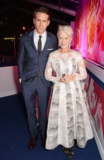 Ryan and Helen posed with her icon award.