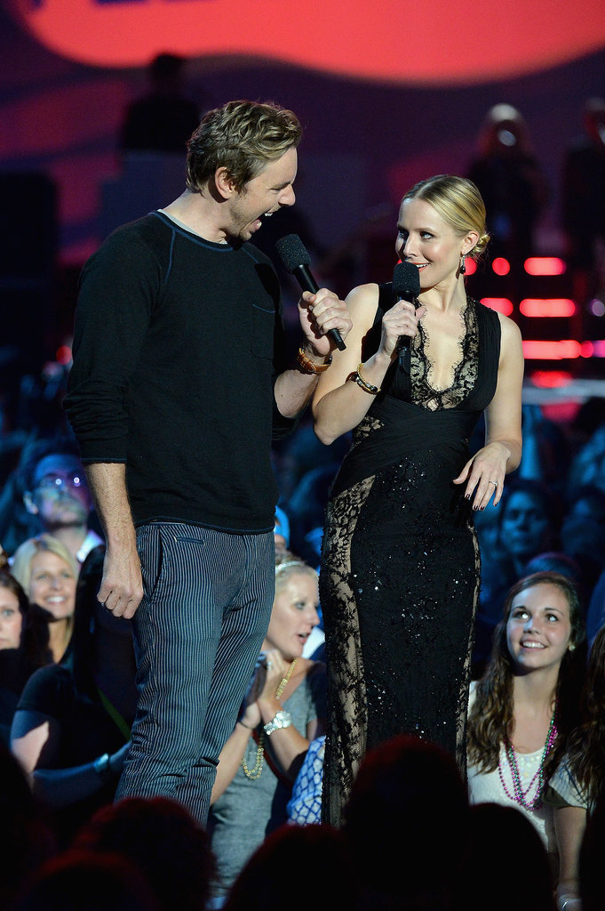 Kristen Bell goofed off with her husband, Dax Shepard, on stage at the CMT Awards in Nashville on Wednesday.