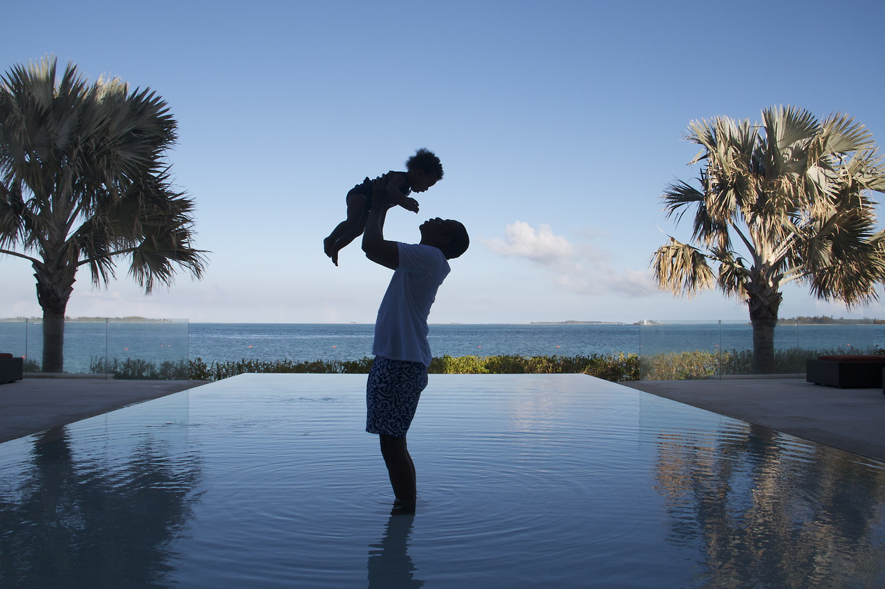 She's married to Jay Z , who's an awesome dad.