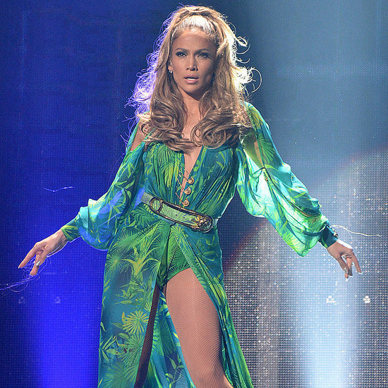 Jennifer Lopez Wears Grammys Versace Dress at Bronx Concert