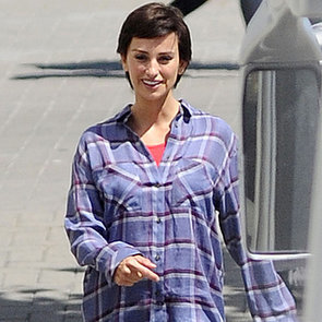 Penelope Cruz's Wig and Baby Bump on Ma Ma Set   Pictures