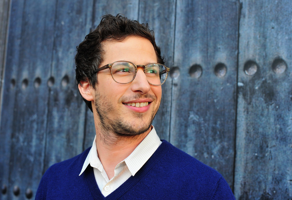 Andy Samberg opted for a preppy look.