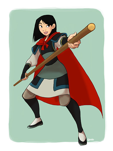 Mulan in Li Shang's Clothing