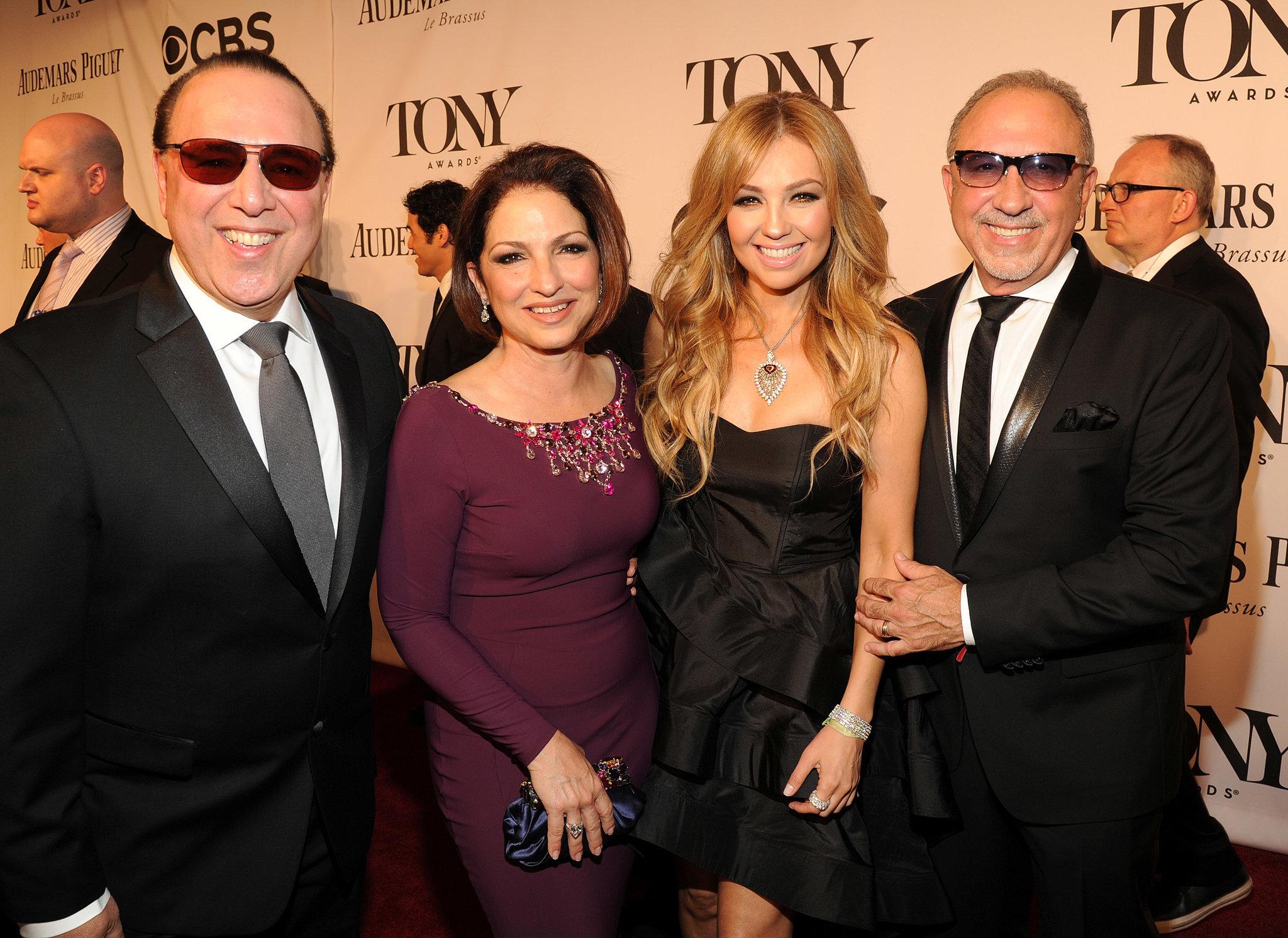 Tommy Mottola, Gloria Estefan, Thalia, and Emilio Estefan mingled on the carpet.