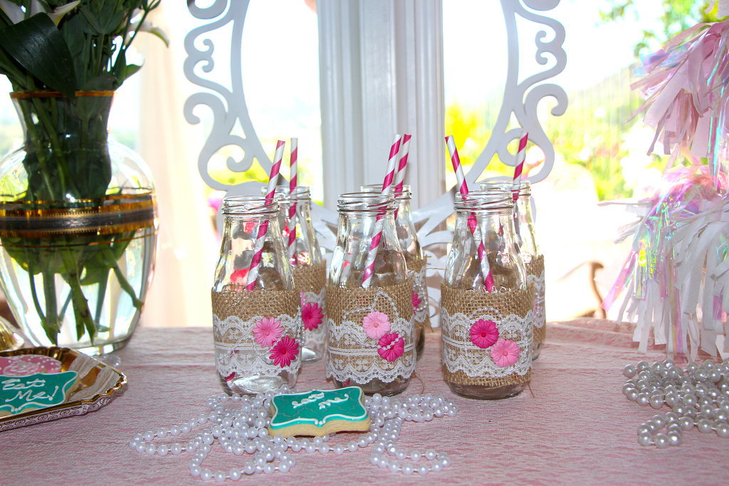 Glammed-Up Milk Bottles