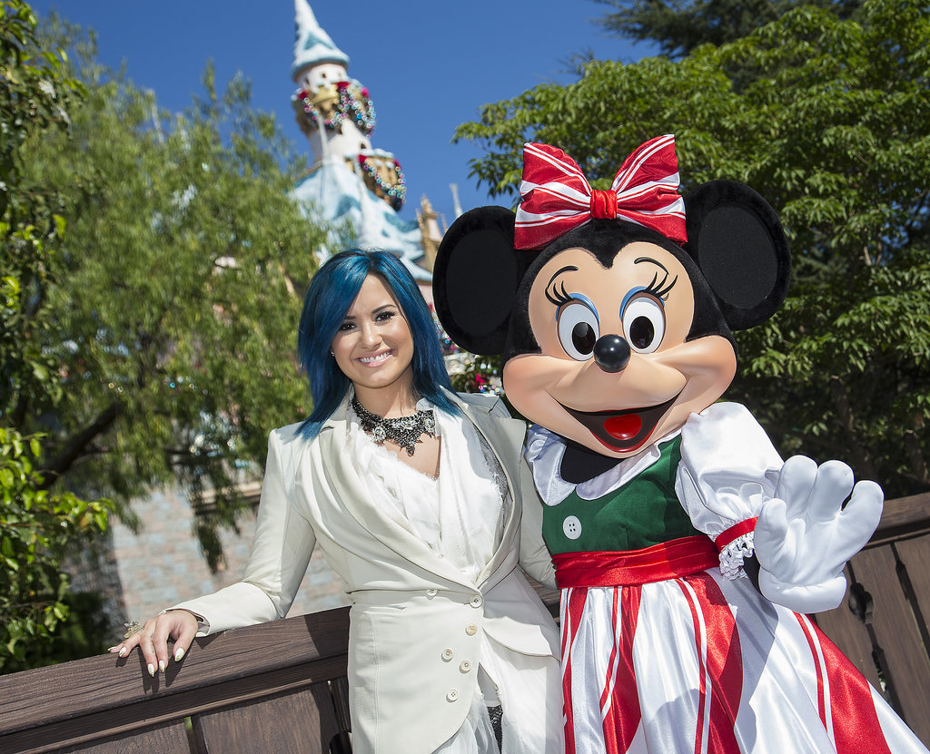 In November 2013, Demi Lovato made an early Christmas-themed stop at the park.
