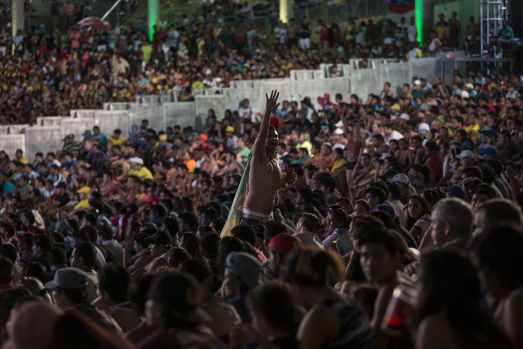 Soccer fans in Manaus, Brazil, gathered to watch the World Cup.