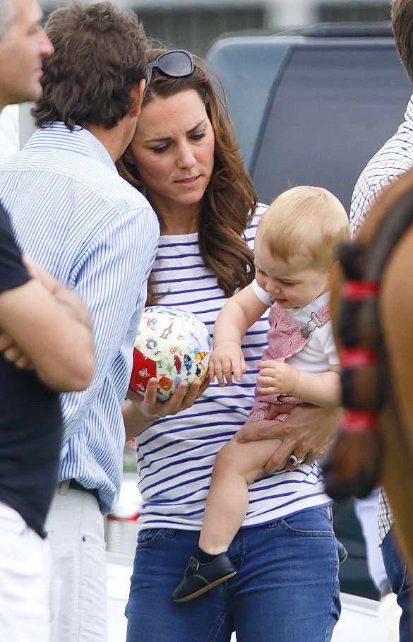 Prince George Crawls Polo Match Pictures - William And Kate