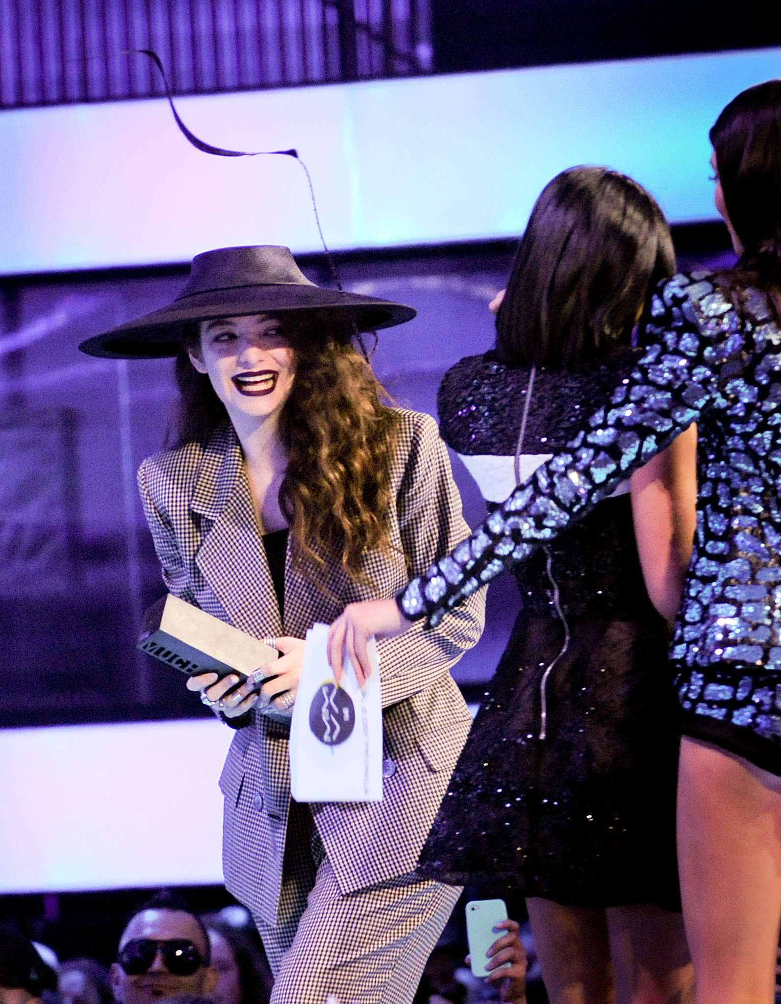 Lorde ran away from Kendall and Kylie Jenner at the MuchMusic Video Awards on Sunday in Toronto.
