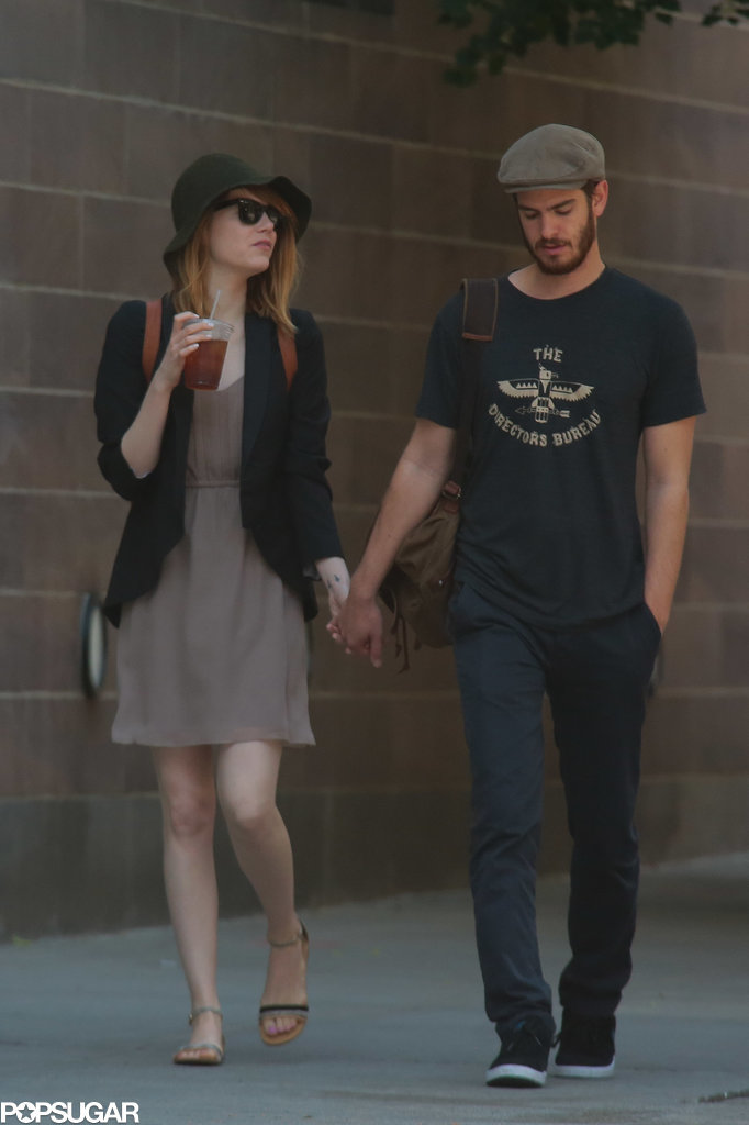 Emma Stone and Andrew Garfield walked hand in hand in NYC on Monday.