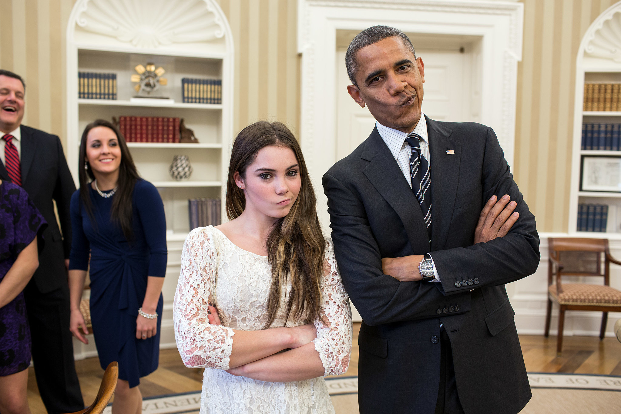 McKayla Maroney and President Barack Obama