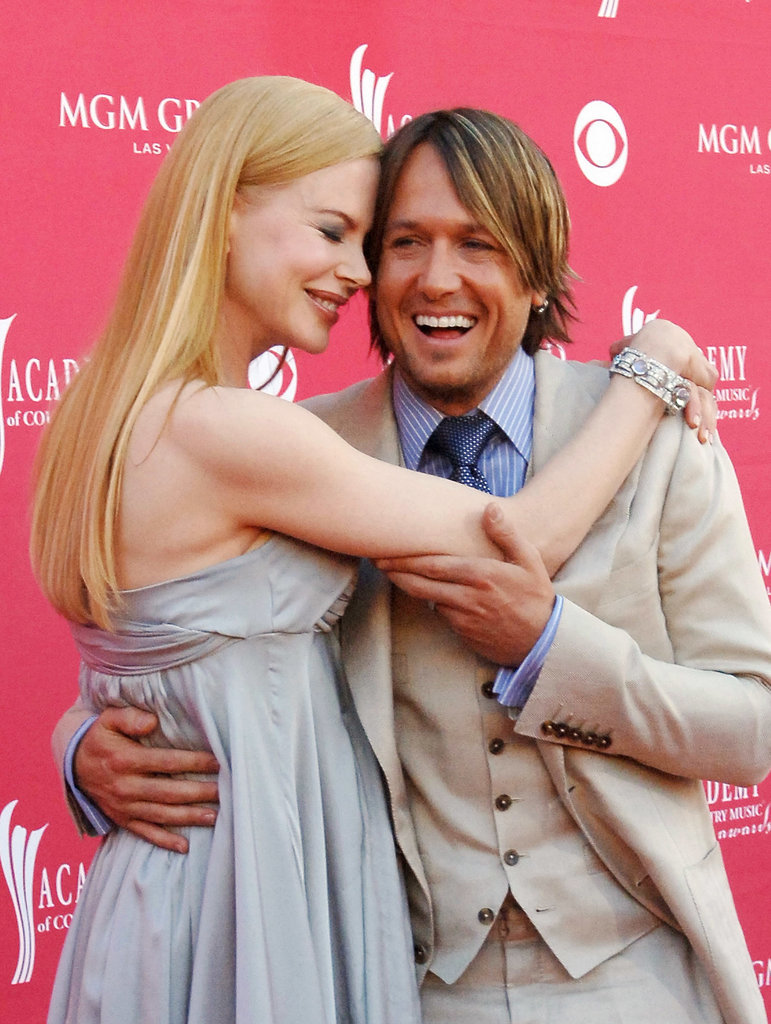 In May 2008, Nicole wrapped her arms around Keith at the ACM Awards in Las Vegas.