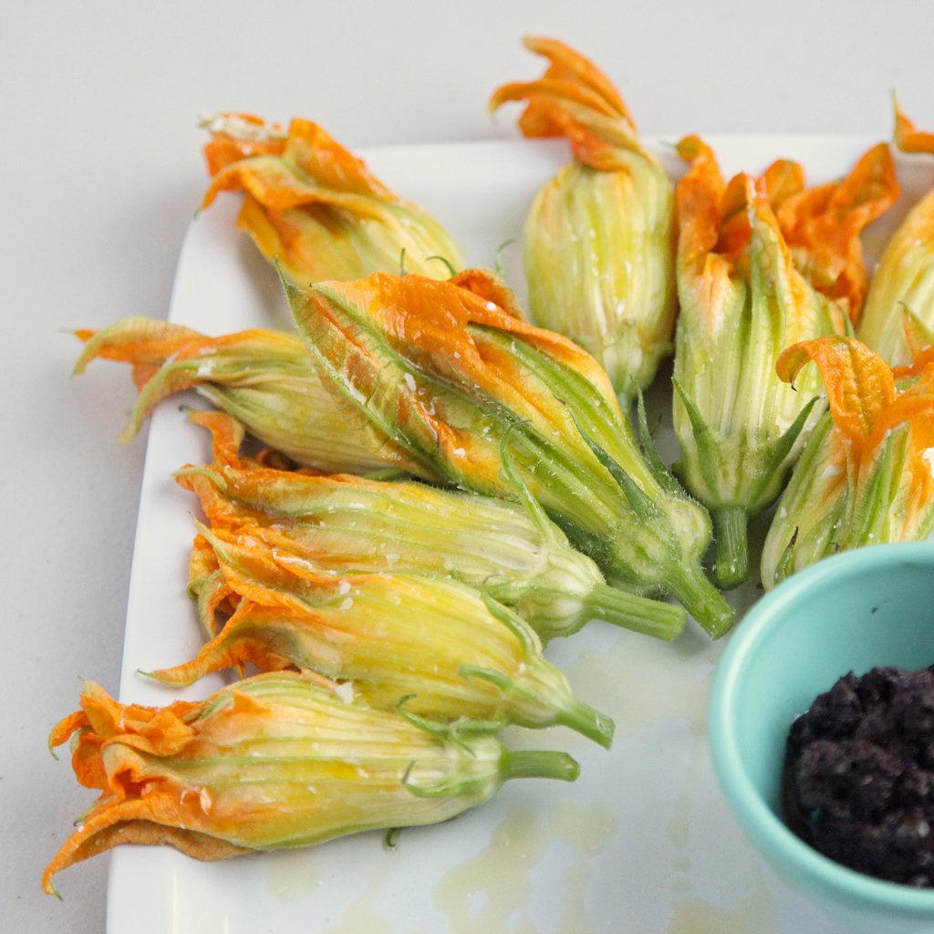 Burrata-Stuffed Squash Blossom Recipe   POPSUGAR Food
