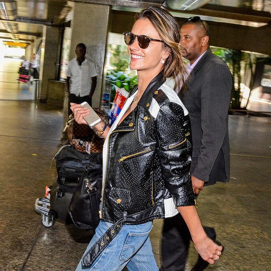 Pictures of Alessandra Ambrosio at the Airport