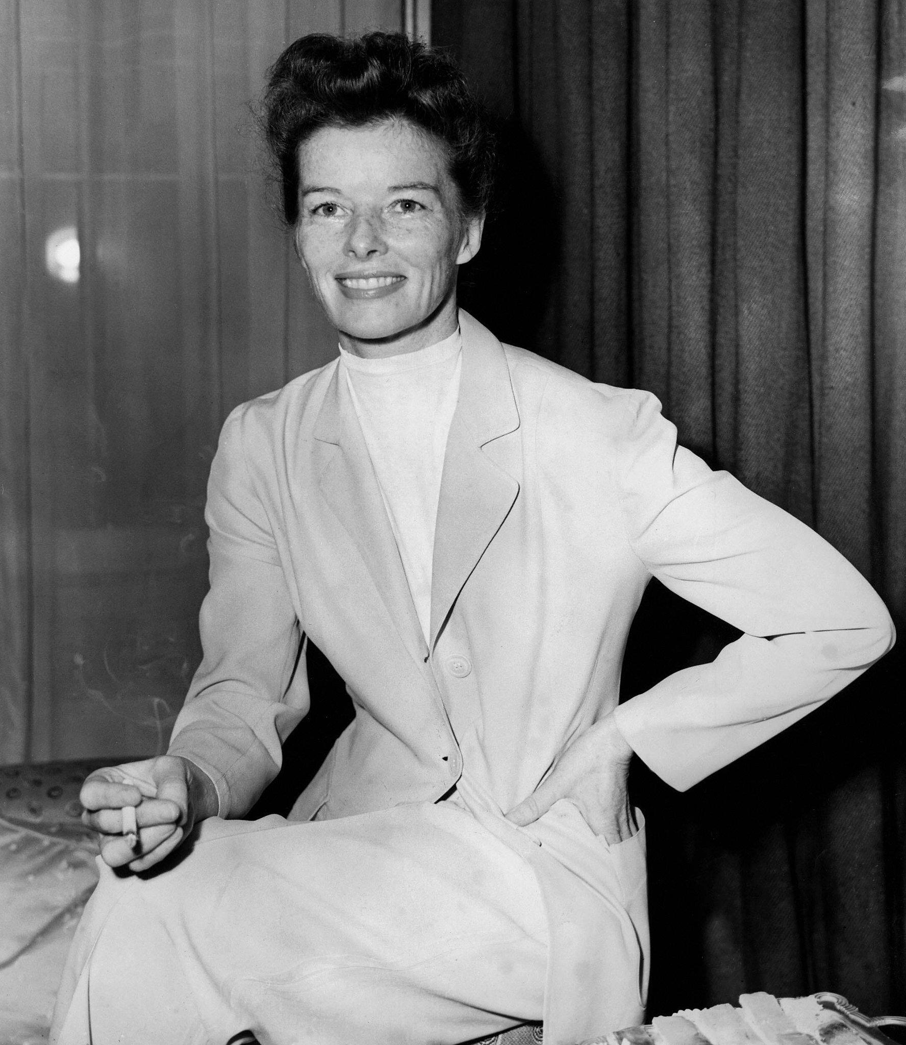 Katharine Hepburn at a London Reception in 1951