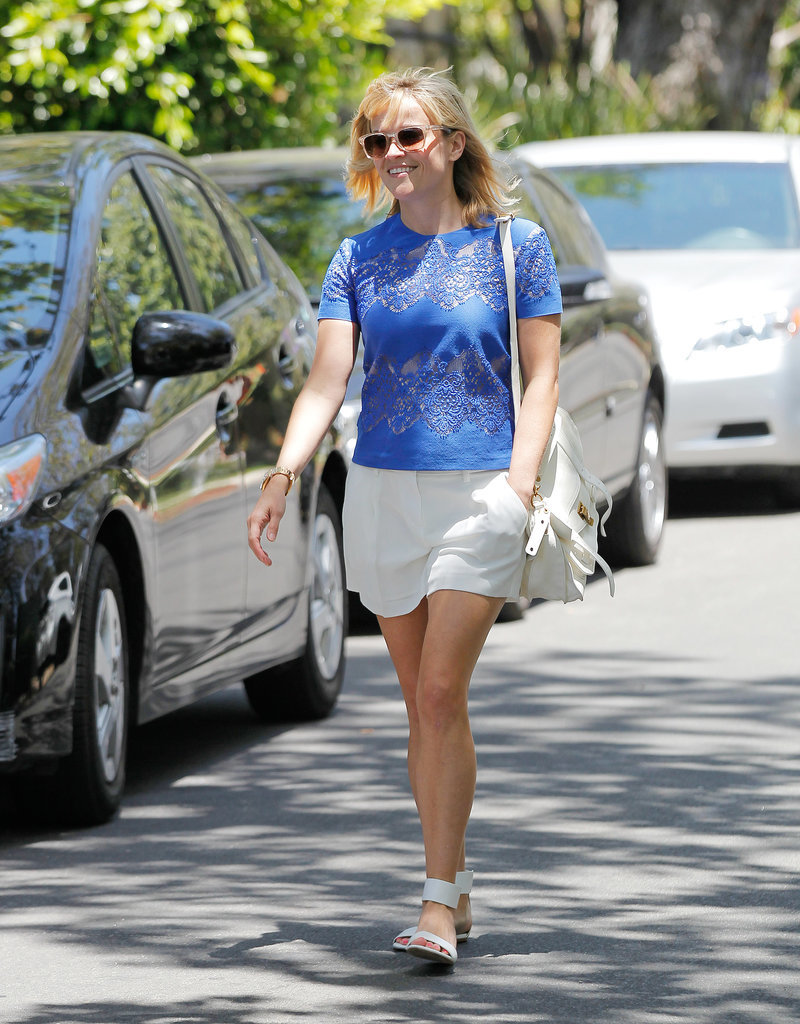 Reese Witherspoon Wearing Glitter Carrera by Jimmy Choo Sunglasses