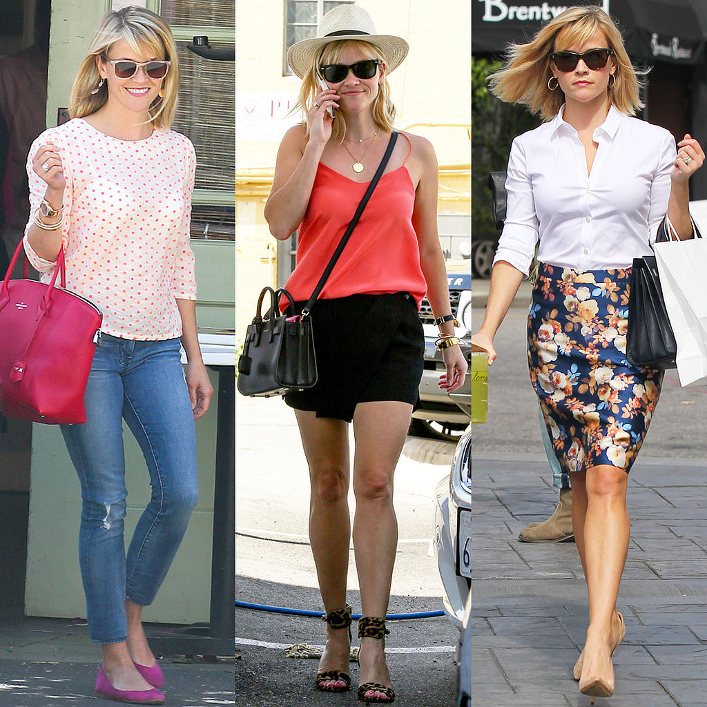 Reese Witherspoon Street Style Popsugar Fashion