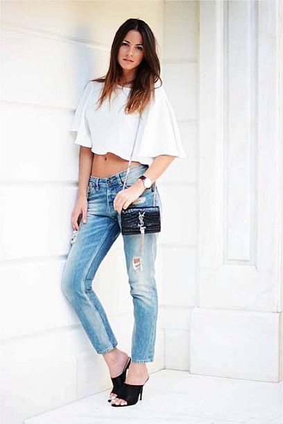 Give old jeans new life with a crop top and a pair of high ...