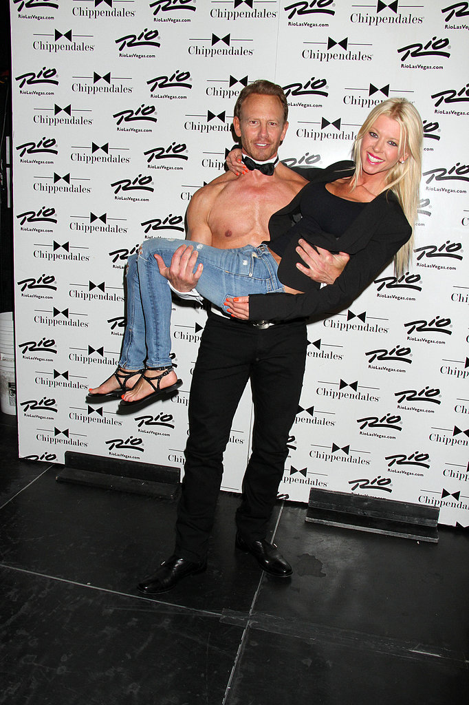 Tara Reid got a special treat when she hung out with Ian Ziering at his Chippendales event in Las Vegas on Saturday.