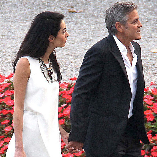 George Clooney and Amal Alamuddin Out in Lake Como, Italy