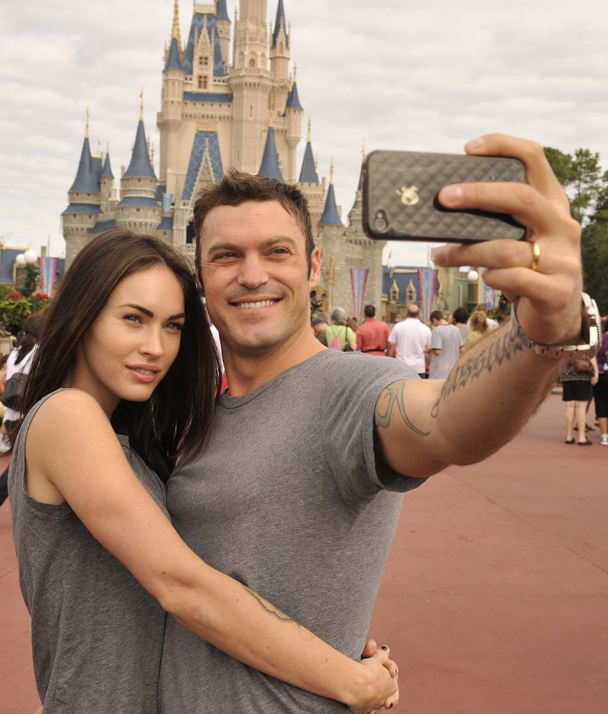 Brian and Megan snapped an adorable selfie during a day at Disney World in November 2010.