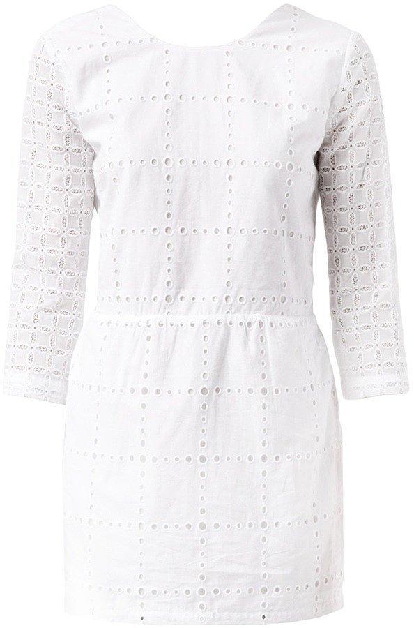 Roseanna Long-Sleeved Eyelet Dress