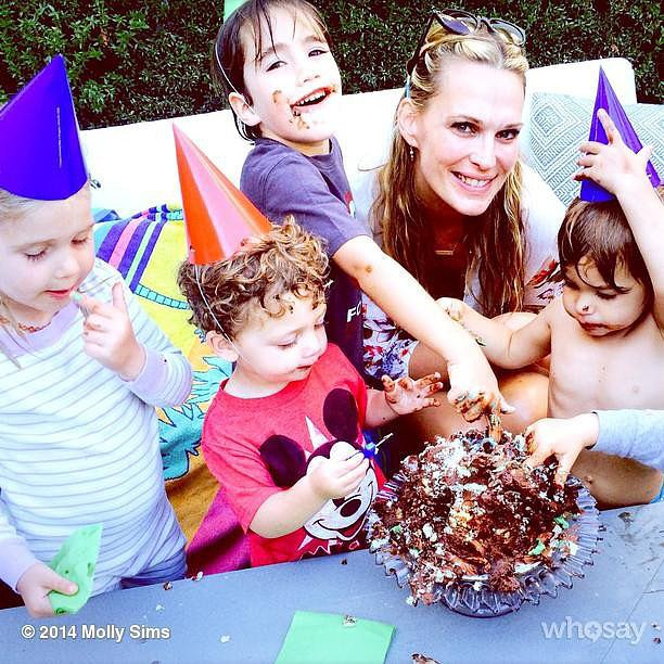 Molly Sims threw a party for Brooks Stuber's second birthday. Source: Instagram user mollybsims