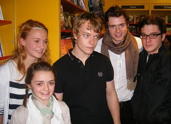 Young Theon's face at this moment will haunt everyone until the end of time. Settle your brain by figuring out how old the kids are and how old their characters are on the show. Side note: that might confuse you even more. Source: Blogspot user thewertzone