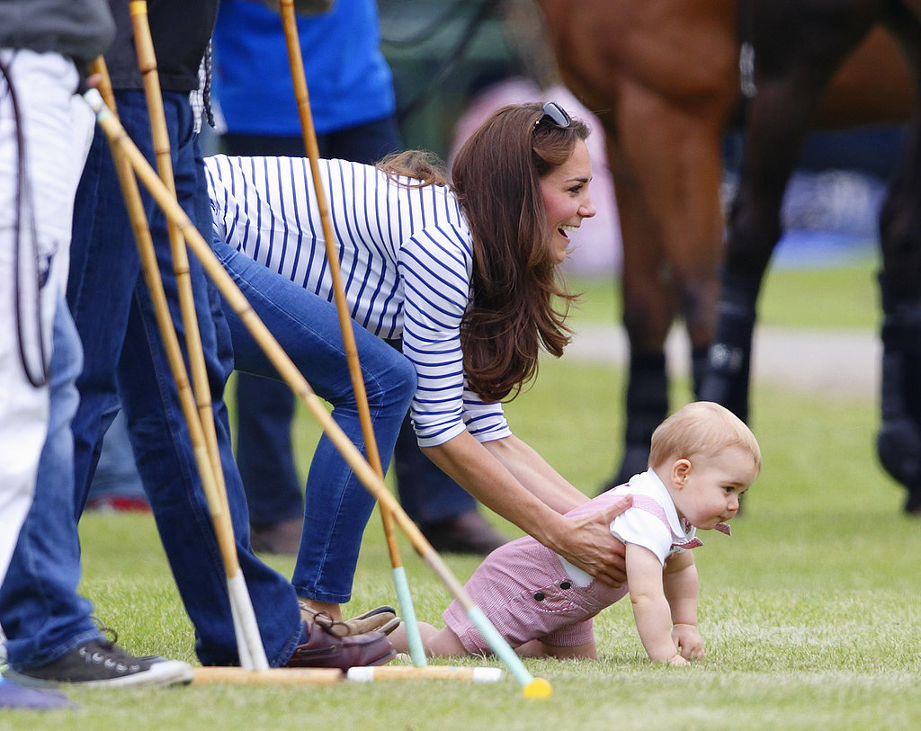 """OK — the queen isn't looking. Baby race time!"""