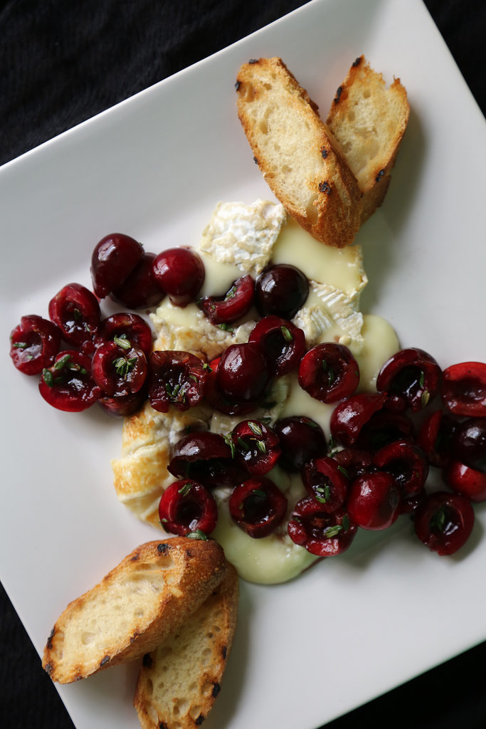 Grilled Brie With Cherries