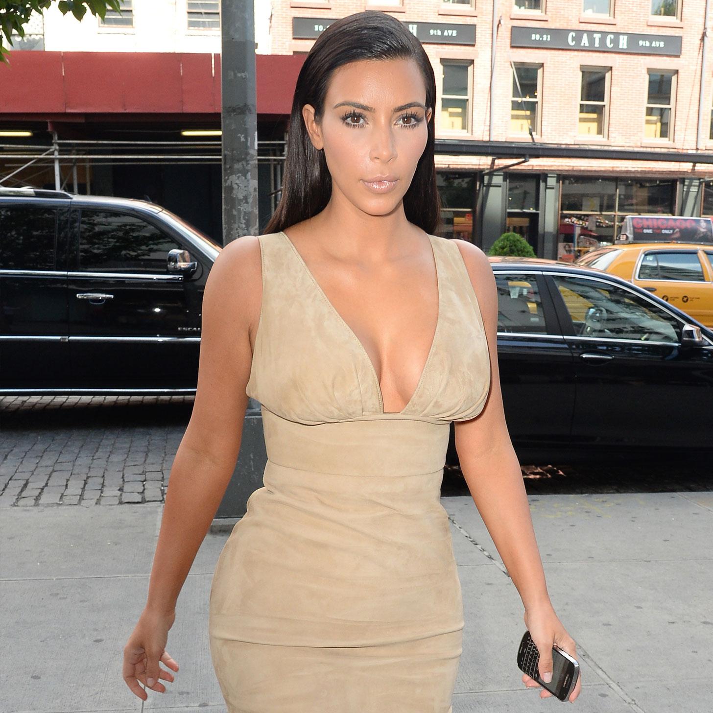 Kim Kardashian in Nude Dresses | Video | POPSUGAR Fashion