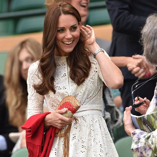 Kate Middleton Wearing White Zimmermann Dress