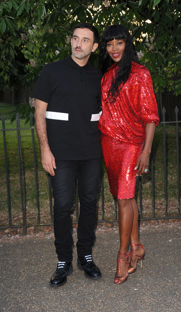 Riccardo Tisci and Naomi Campbell