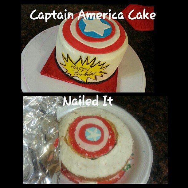 美國隊長蛋糕