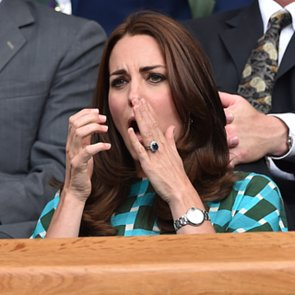 Kate Middleton and Prince William at Wimbledon 2014