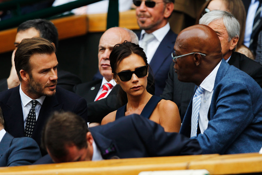 David and Victoria Beckham chatted with Samuel L. Jackson.